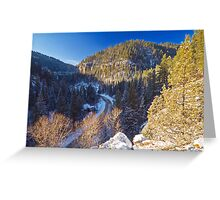 Above Eleventh Hour Greeting Card