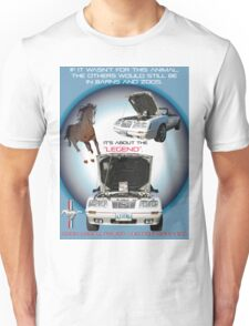 1984 1/2 Anniversary Ford Mustang Car Placard Unisex T-Shirt