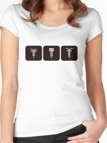 Velodrome City Icon Series V2 no.1a Women's Fitted Scoop T-Shirt