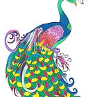 Rainbow Peacock by Riley J. Broadbent