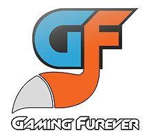 Gaming Furever Logo White Outlined by GamingFurever