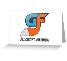 Gaming Furever Logo White Outlined Greeting Card