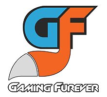 Gaming Furever Logo White Outlined No Shiny by GamingFurever