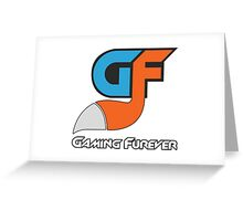 Gaming Furever Logo White Outlined No Shiny Greeting Card