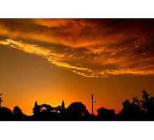 front yard sunset Photographic Print