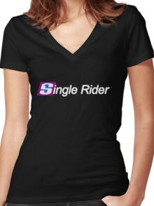 Single Rider Life Women's Fitted V-Neck T-Shirt