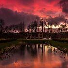 Hardwick Hall Sunset by neil sturgeon