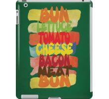 Funny Burger Typography Art iPad Case/Skin