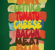Funny Burger Typography Art by thejoyker1986
