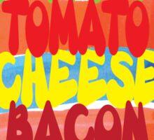 Funny Burger Typography Art Sticker