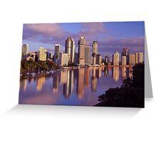 Brisbane City & River. Queensland, Australia Greeting Card