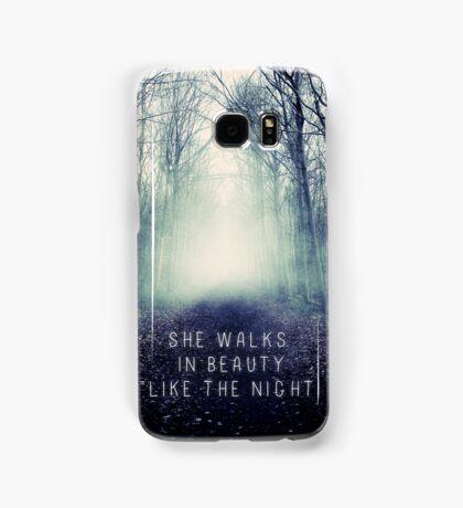She Walks In Beauty Samsung Galaxy Case/Skin