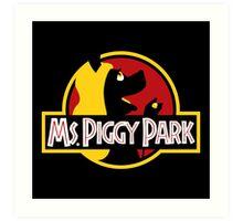 Miss Piggy Park Art Print