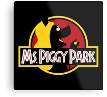 Miss Piggy Park Metal Print