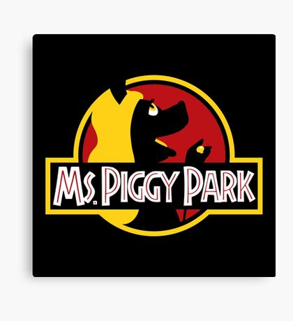 Miss Piggy Park Canvas Print