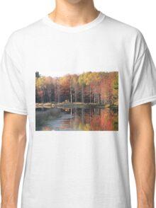 Fall On Sharon's Pond Classic T-Shirt