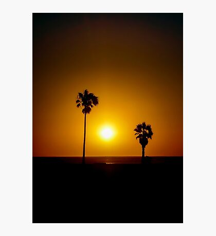 Sunset Scene at the Coast of Montevideo Uruguay Photographic Print