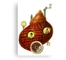 Steampunk Snail Shell Canvas Print