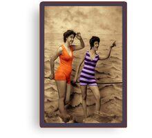 Swimming Fashion Canvas Print