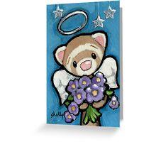 Angel of Purple Flowers Greeting Card