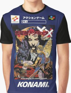 Castlevania Akumajo Dracula X Nintendo Super Famicom Japanese Box Art Graphic T-Shirt