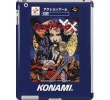 Castlevania Akumajo Dracula X Nintendo Super Famicom Japanese Box Art iPad Case/Skin