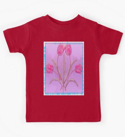 Pink Tulips Kids Tee