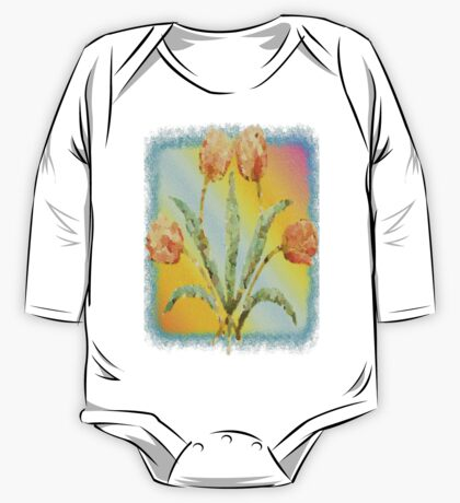 Colourful Tulips One Piece - Long Sleeve