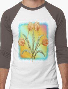 Colourful Tulips Men's Baseball ¾ T-Shirt