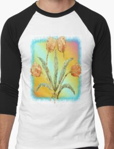 Colourful Tulips Men's Baseball ¾ T-Shirt