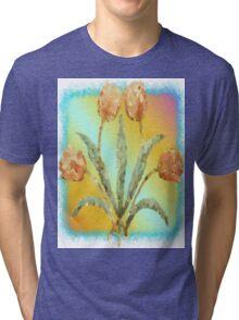 Colourful Tulips Tri-blend T-Shirt