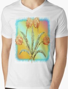 Colourful Tulips Mens V-Neck T-Shirt