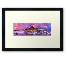 At the edge of land and sea Framed Print
