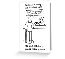 Working in a library. Greeting Card