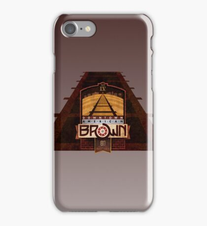 VINTAGE AMERICAN BROWN BEER. iPhone Case/Skin