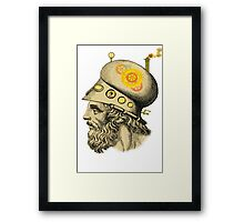 Steampunk Greek Helmet Framed Print