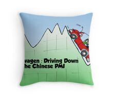 Farfegnuggen VW rolling down hill Throw Pillow