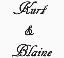 Kurt & Blaine (Black) by LexyDC
