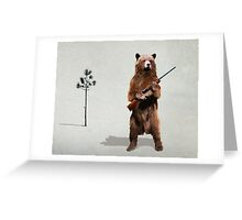 Bear with a shotgun Greeting Card