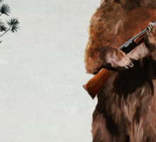 Bear with a shotgun Sticker