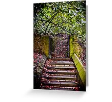 The Deans Steps Cardiff Wales Greeting Card