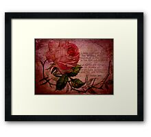 O Rose Thou Art Sick Framed Print