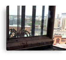 Top of the Providence Biltmore Glass Elevator Canvas Print