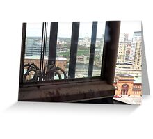 Top of the Providence Biltmore Glass Elevator Greeting Card