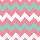 &gt;&gt;chic.chevron&lt;&lt; - pink&amp;teal&amp;white by designsbyjenn