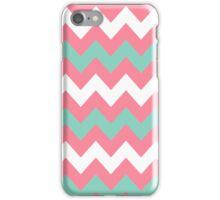 >>chic.chevron<< - pink&teal&white iPhone Case/Skin