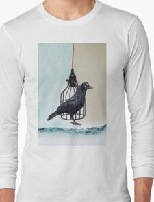 bird in the wire Long Sleeve T-Shirt