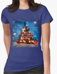 christmas scene 1 Womens Fitted T-Shirt