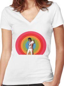 ELVIS. Women's Fitted V-Neck T-Shirt