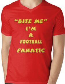 Bite Me Mens V-Neck T-Shirt